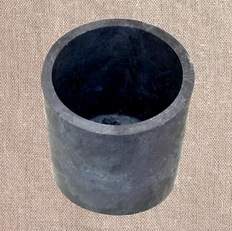 Shungite unpolished flower pot