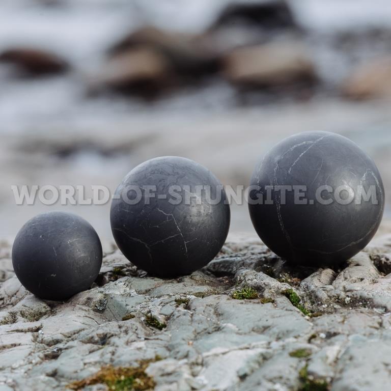 Shungite unpolished sphere 4cm