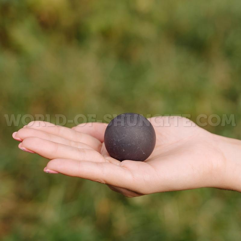 Shungite unpolished sphere 3.5cm