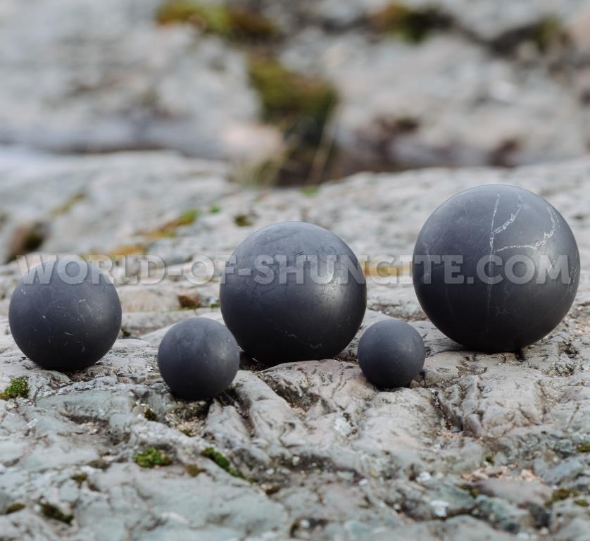 Shungite unpolished sphere 7cm
