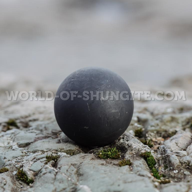 Shungite unpolished sphere  8cm