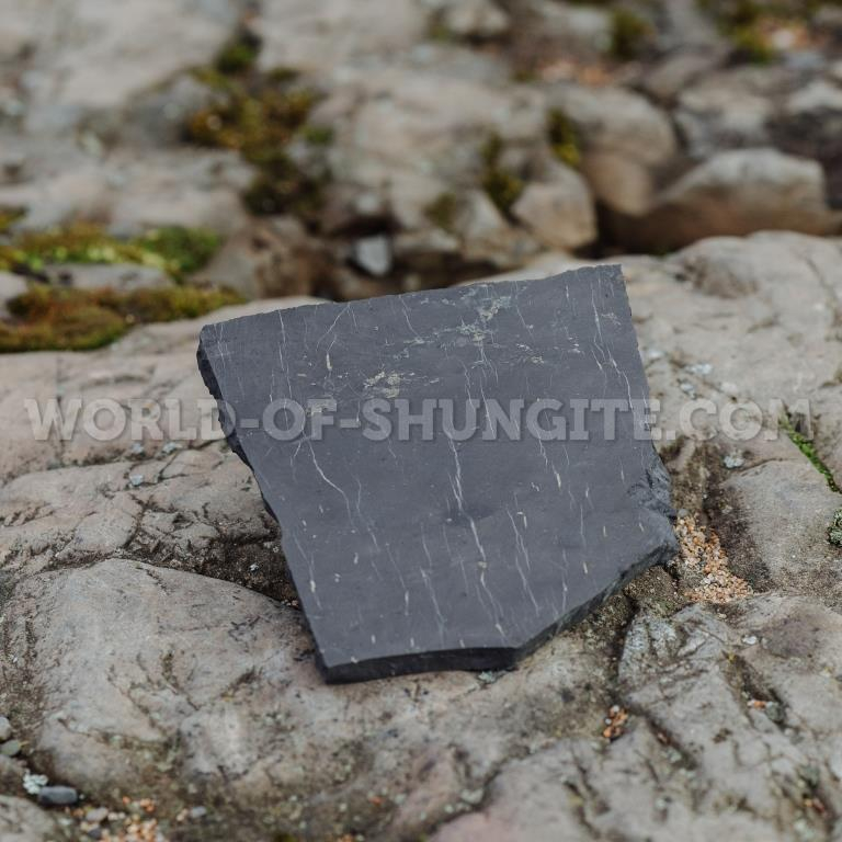 Shungite formless unpolished tile