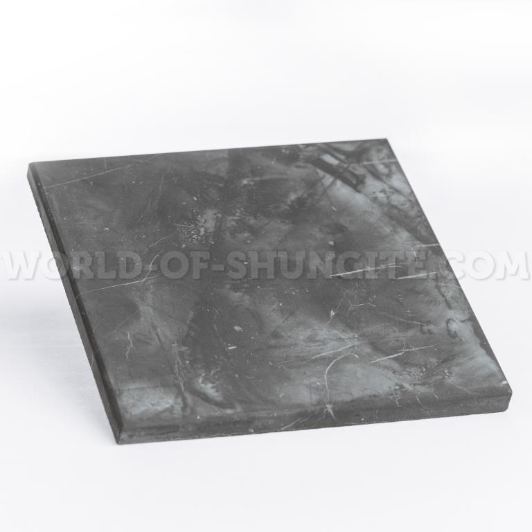 Shungite unpolished tile 10x10cm