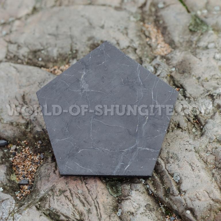 Shungite polished  pentagon 8cm