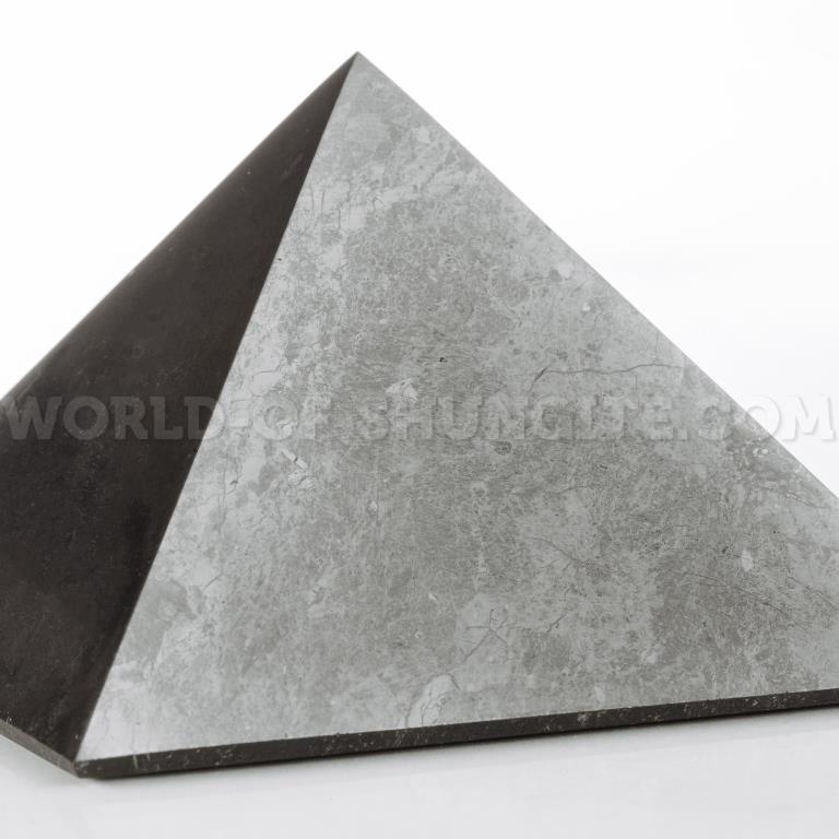Shungite polished pyramid 15 cm