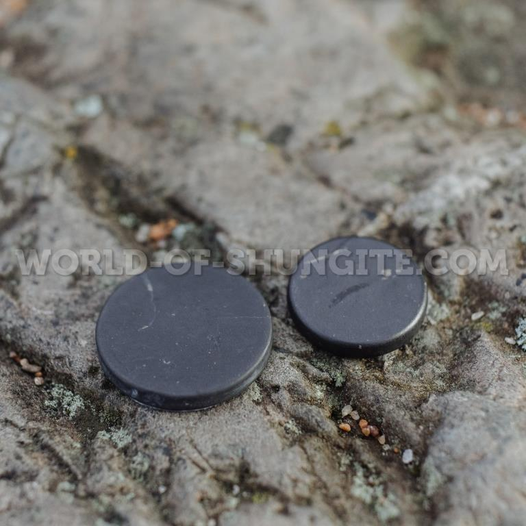 Shungite polished plaque 50mm