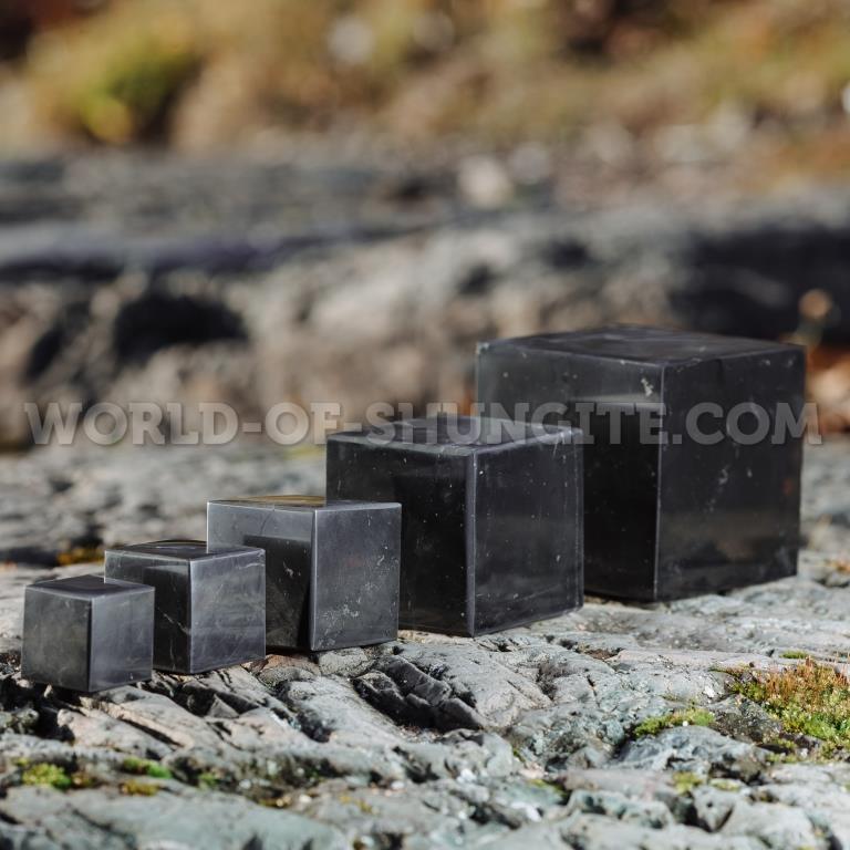 Shungite polished cube 8 cm