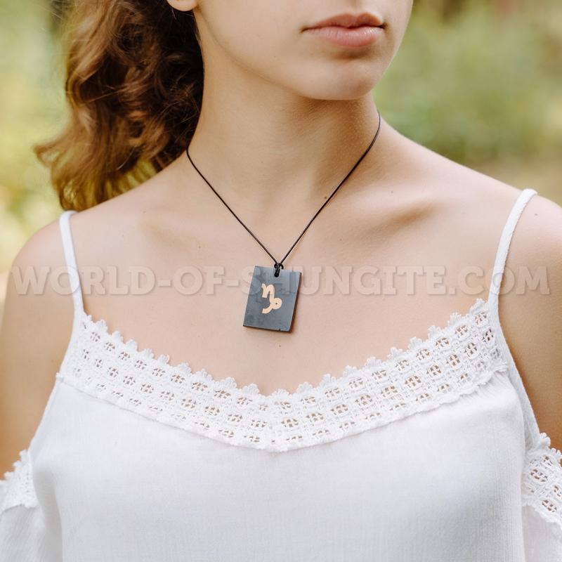 "Shungite pendant ""Capricorn"""