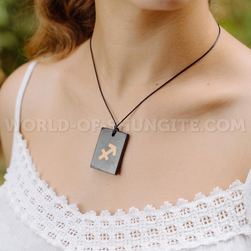 """Shungite pendant """"Sagittarius"""""""