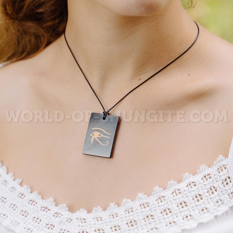 "Shungite pendant ""The Eye of Horus"" (rectangular)"