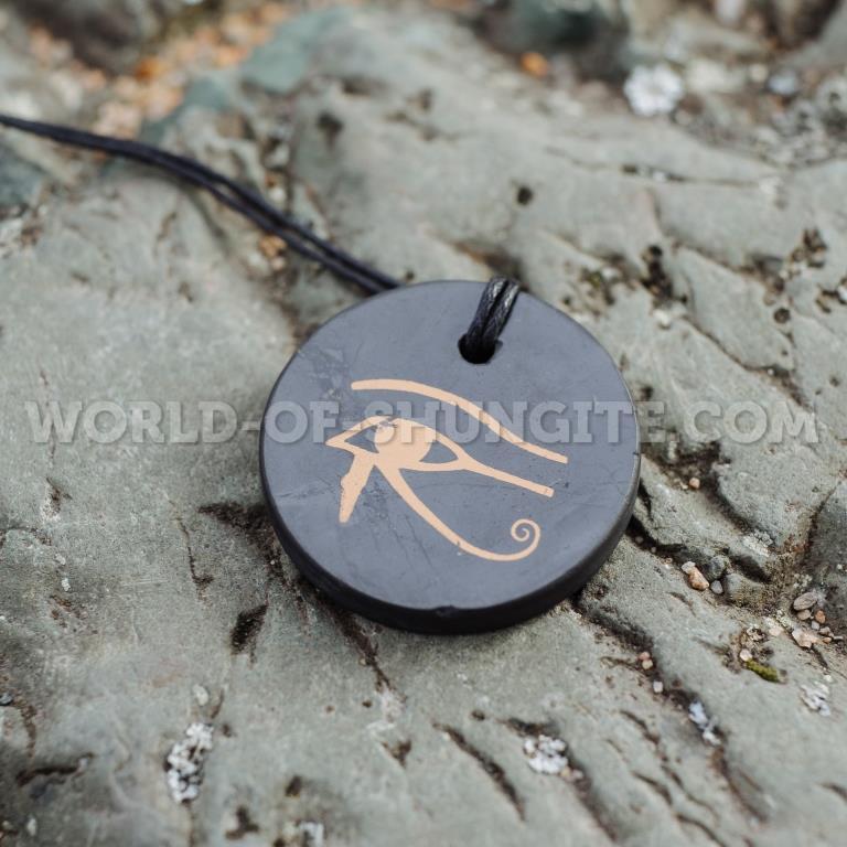 "Shungite pendant ""The Eye of Horus"" (circle)"