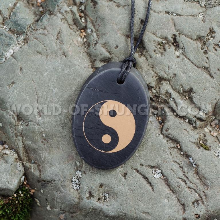 "Shungite pendant ""Yin Yang"" (oval)"