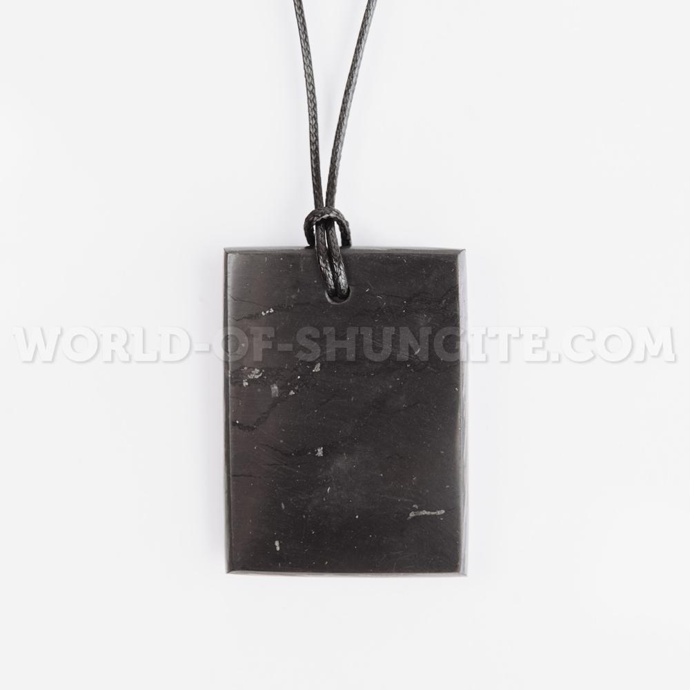 "Shungite pendant ""Rectangular"""