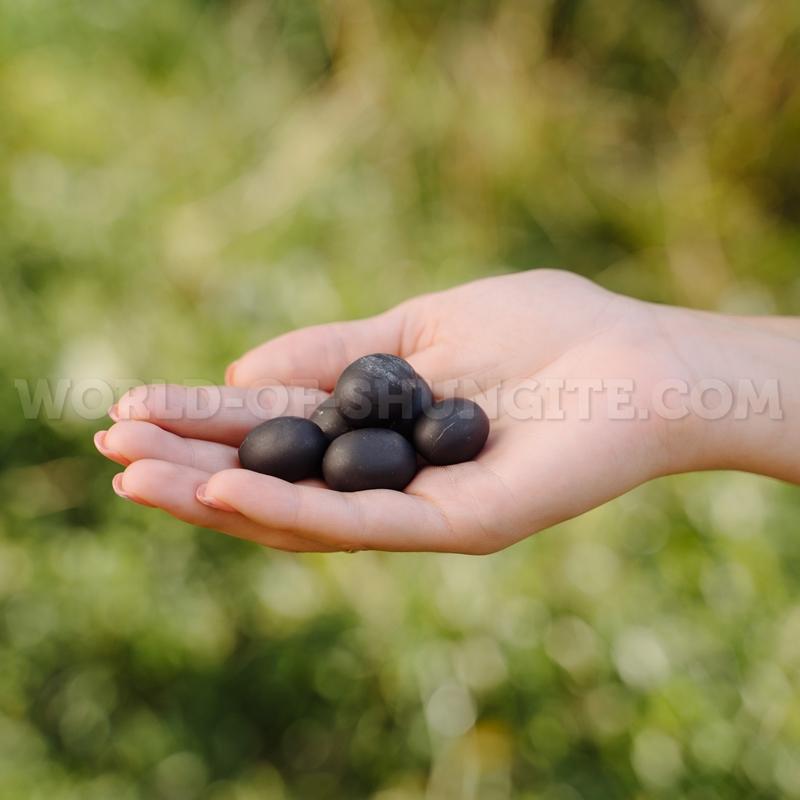 Shungite correct unpolished pellets