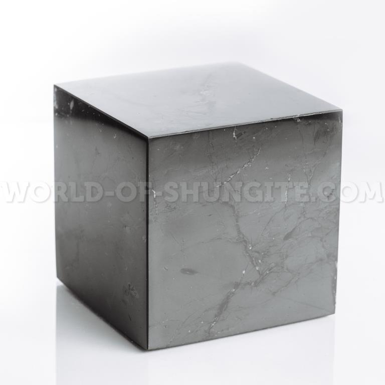 Shungite polished cube 10 cm