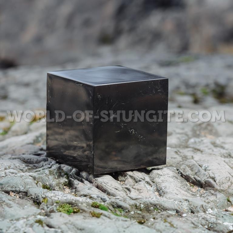 Shungite polished cube 15 cm