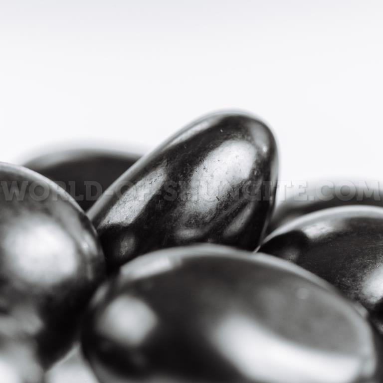 Shungite small polished pellet (1-3cm) 100g