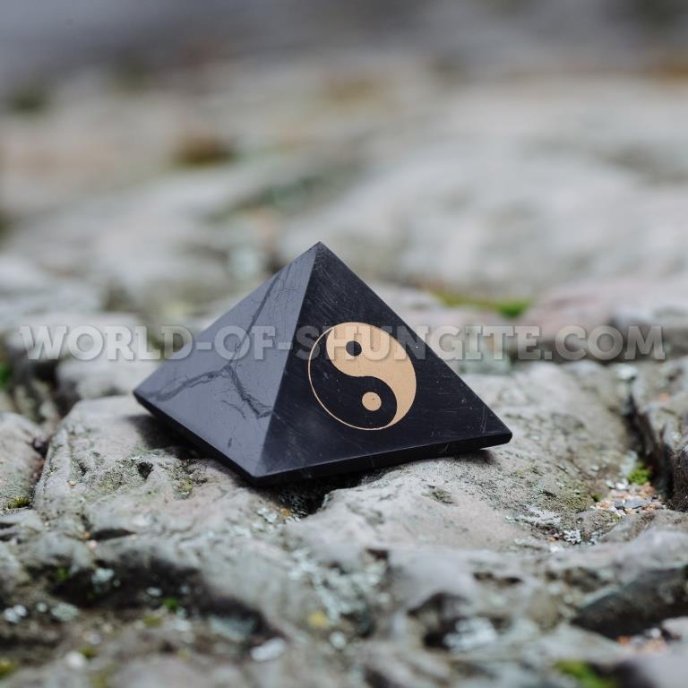 """Shungite pyramid """"Yin-Yang"""""""