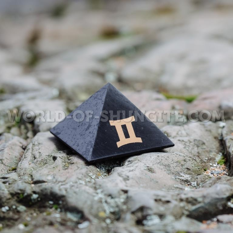"Shungite pyramid ""Gemini"""