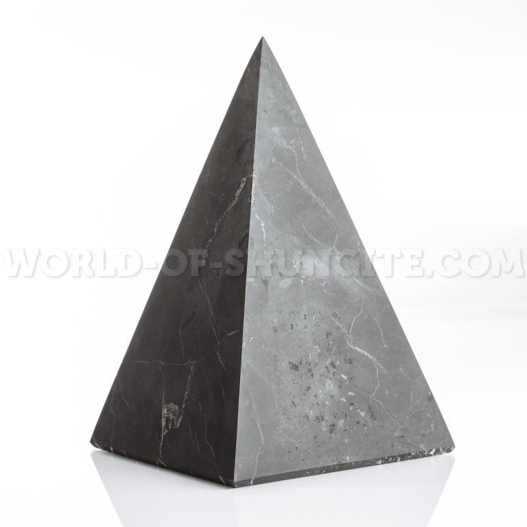 Shungite unpolished high pyramid 6 cm
