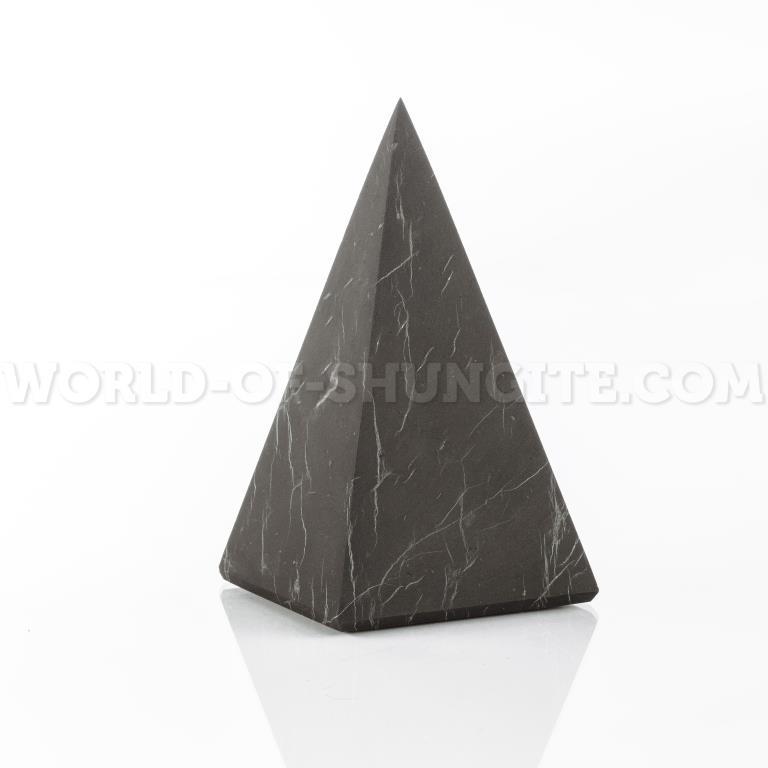 Shungite unpolished high pyramid 7 cm