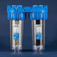 Inline double-circuit filter (shungite,zeolite)