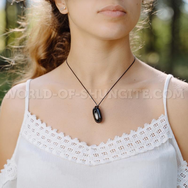 """Shungite pendant """"Berta"""""""
