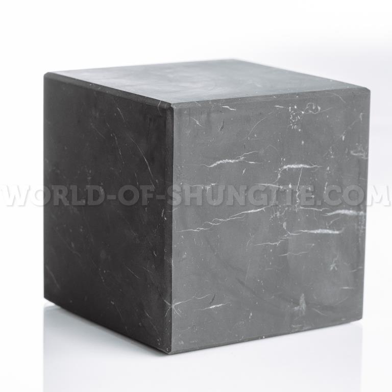 Shungite unpolished cube 6 cm