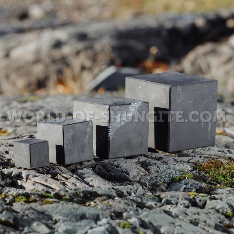 Shungite unpolished cube 9 cm