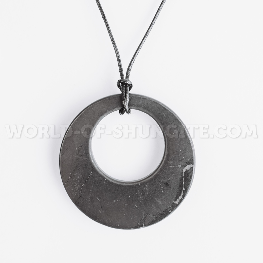"Shungite pendant ""Circle in circle"""