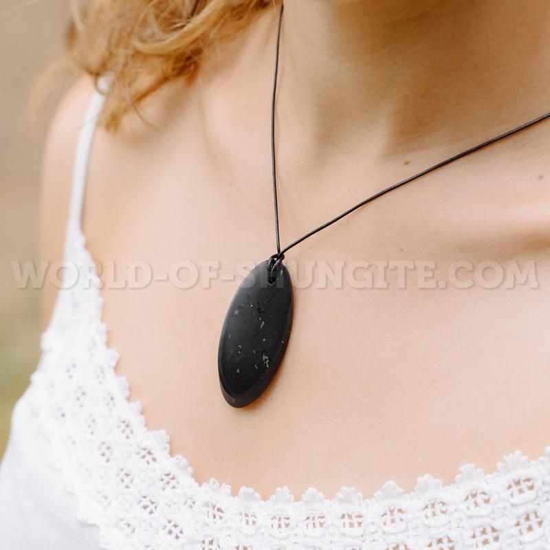 """Shungite pendant """"Сut (big)"""""""