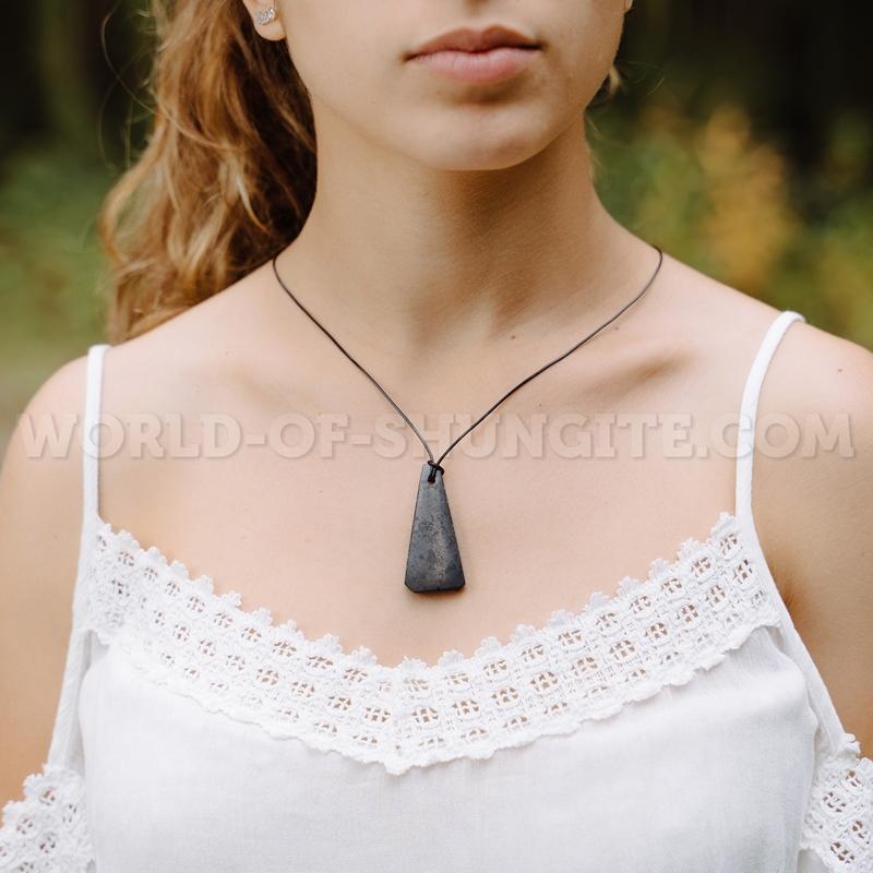 """Shungite pendant """"Bell"""""""