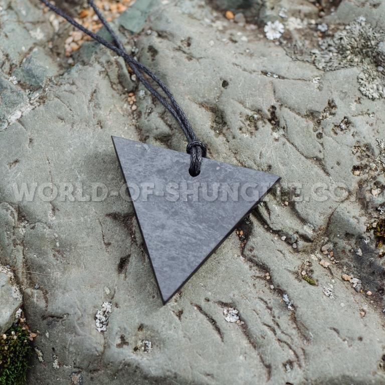 "Shungite pendant ""Woman's Triangle"""
