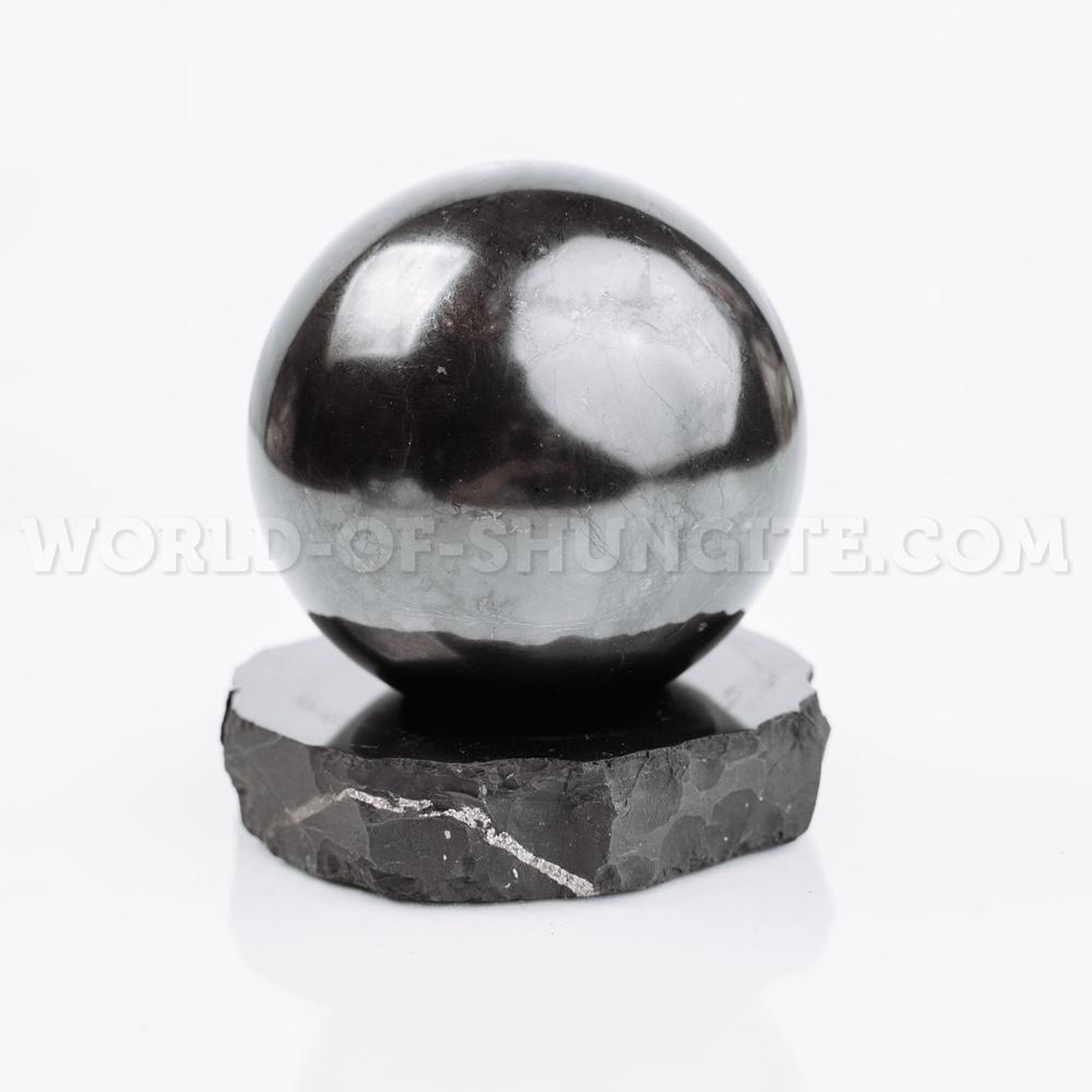 Shungite support for a sphere (medium)