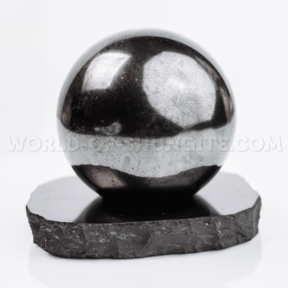 Shungite support for a sphere (large)