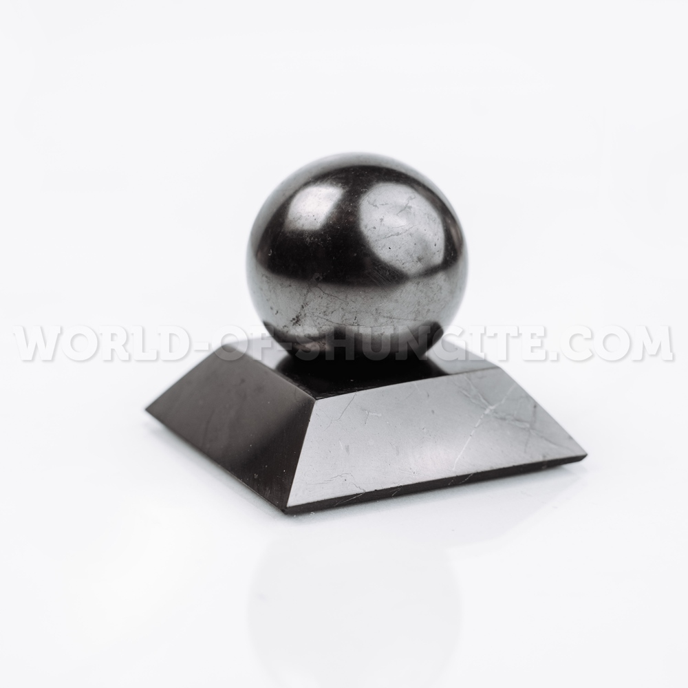Shungite square stand for sphere (small)