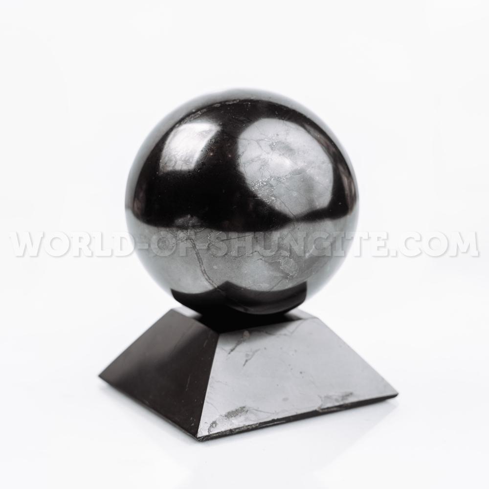Shungite square stand for sphere (medium)