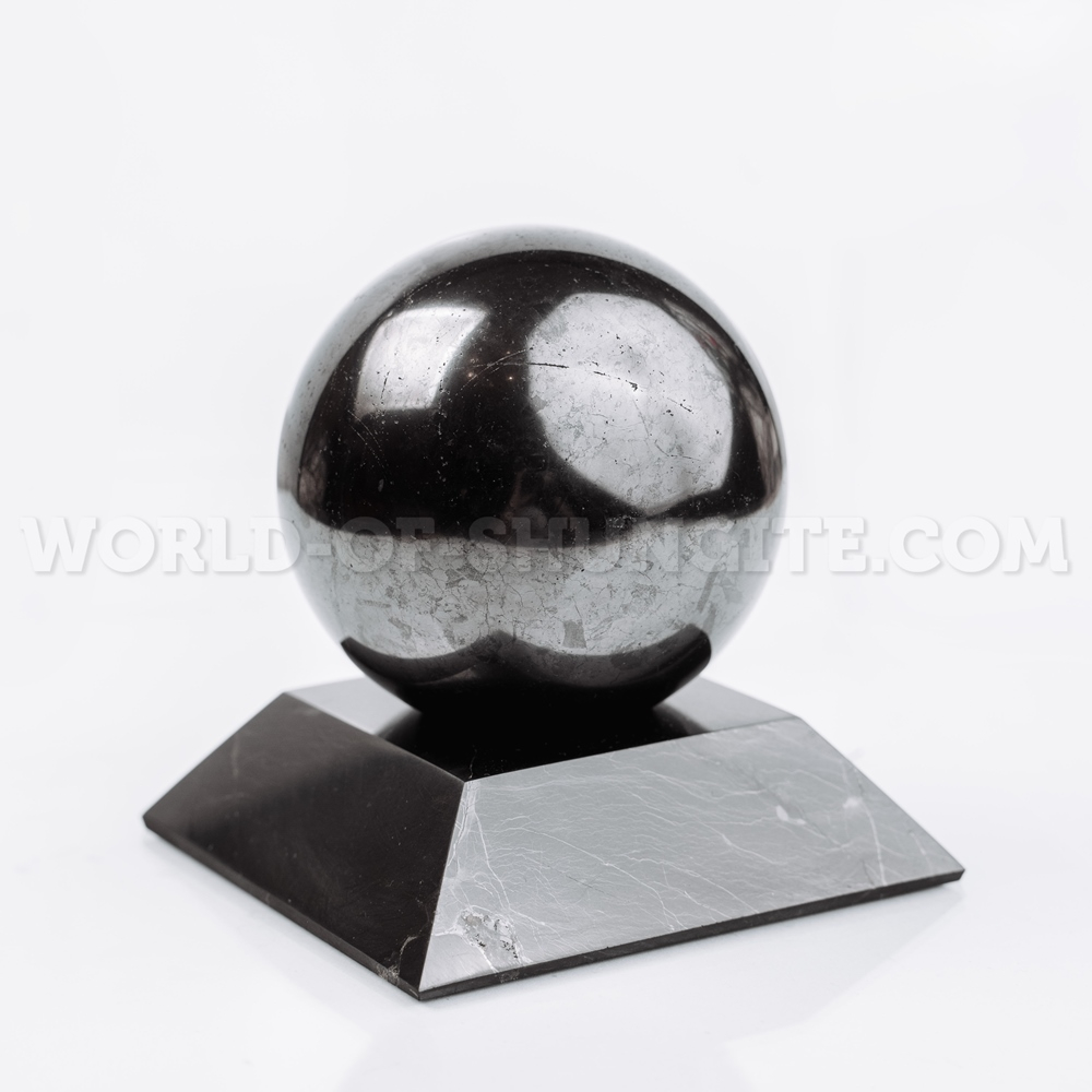 Shungite square stand for sphere (large)