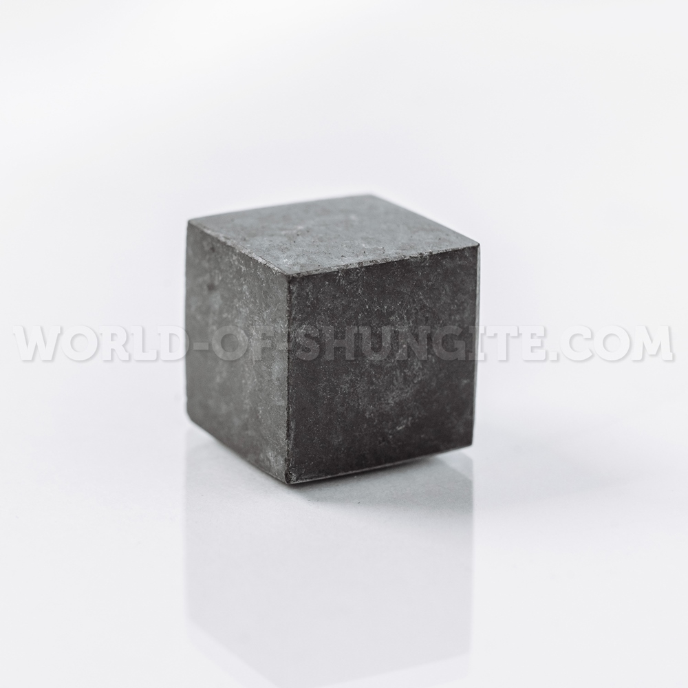 Polished cube for the whiskey from steatite