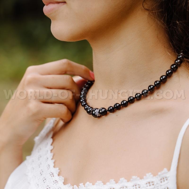 Shungite necklace ''Vera''
