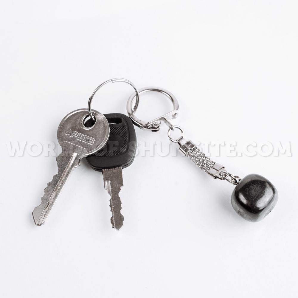"""Shungite keychain """"Polished cube"""""""
