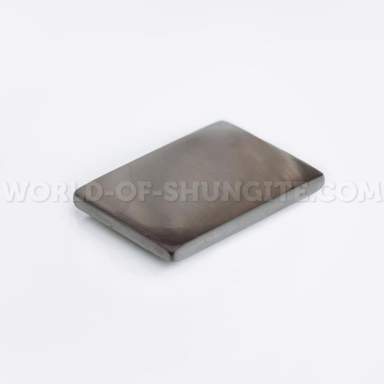 Shungite polished plate for cell phone (rectangular) 30x20mm