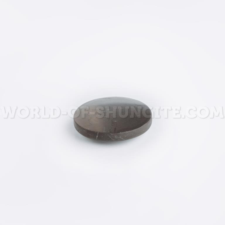 Shungite unpolished round plaque for cell phone 19mm