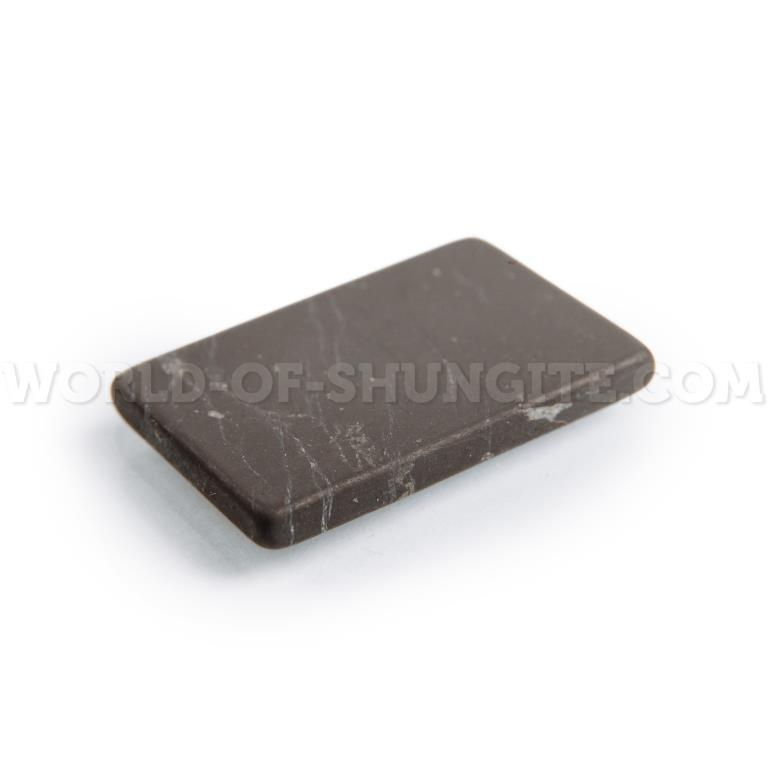 Shungite unpolished plaque for cell phone (rectangular) 30x20mm