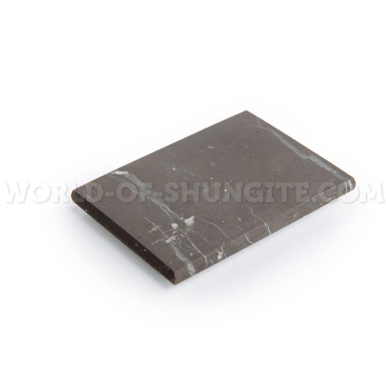 Shungite unpolished plate for cell phone (rectangular) 40x30mm