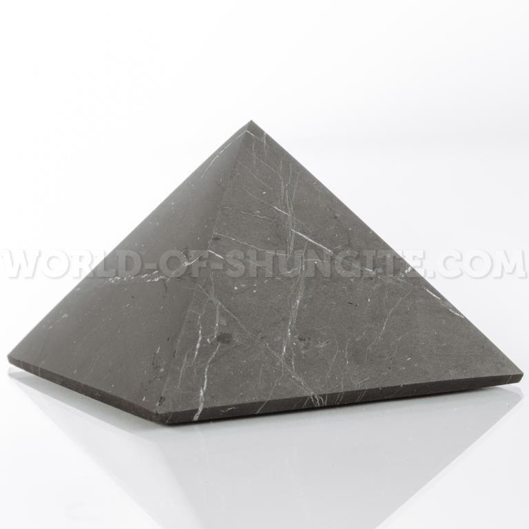 Shungite unpolished pyramid 20 cm