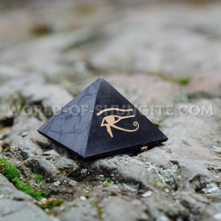 "Shungite pyramid ""The Eye of Horus"""