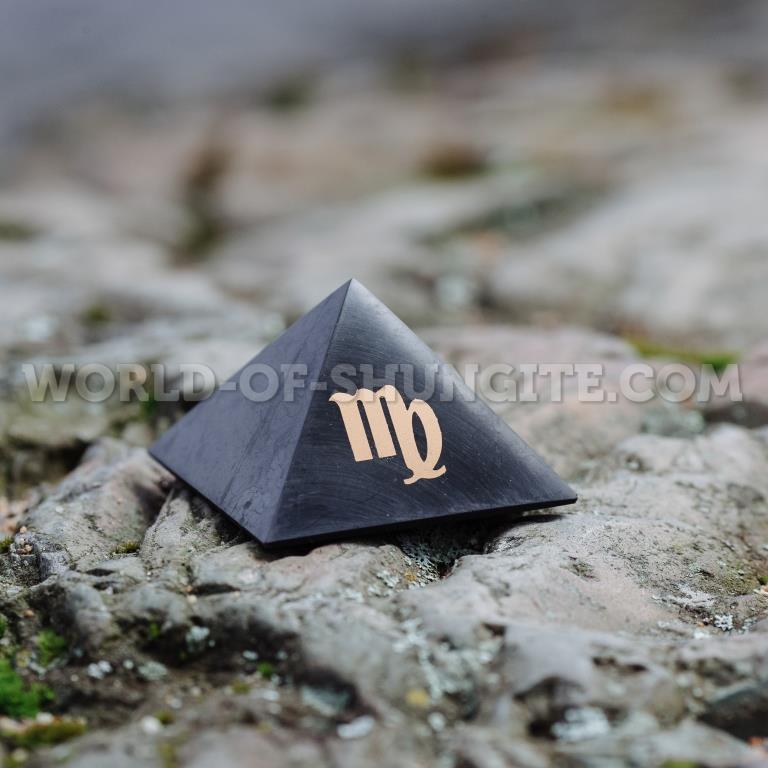 "Shungite pyramid ""Virgo"""