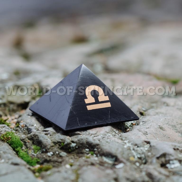 "Shungite pyramid ""Libra"""