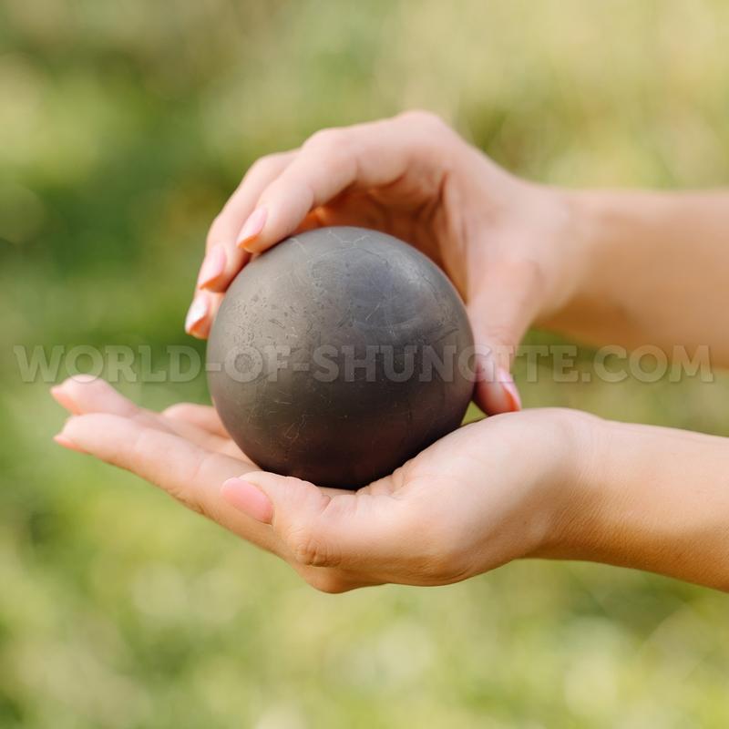 Shungite unpolished sphere 6cm